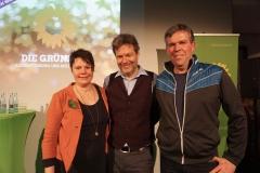 Babara Hofmann und Volker Goll (SprecherInnen Duo) mit Robert Habeck