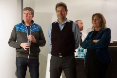 Volker Goll, Robert Habek mit Christine Scheel
