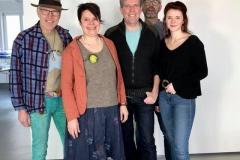 Artur Schnatz, Babara Hofmann, Volker Goll, Theo Grünewald und Madleen Lörzel