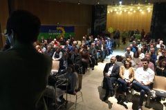 Blick über den Saal im LC mit 150 Besuchern