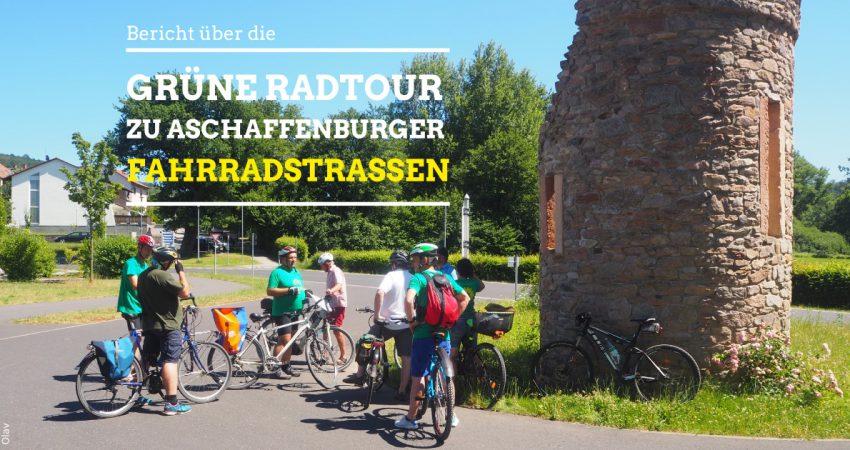 Grüne Radtour zu den Fahrradstaßen in Aschaffenburg
