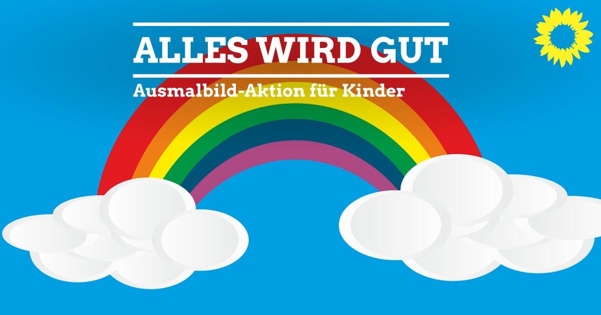 regenbogenausmalbild für kinder  kleinostheim