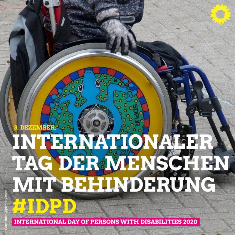 Heute ist der internationalen Tag der Menschen mit Behinderung.